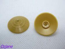 LEGO PART 93055 PEARL GOLD MINIFIGURE HEADGEAR HAT CONICAL ASIAN X 2 PIECES
