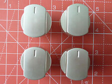 4 x Silver Knobs for Stoves Ovens & Hobs