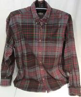 Red Head Mens Size XL Flannel Shirt 100% Cotton Plaid Gray Red Green