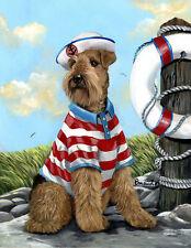 """Precious Pets Garden Flag - Airedale Terrier the Skipper  12"""" x 18"""" ~ Charity!"""