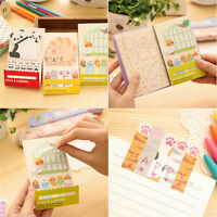 Animal Cat Panda Cute Kawaii Memo Sticky Notes Planner Stickers Paper BookmarkWT