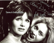 JENNIE LINDEN & LINDA HAYDEN joint signed in person B&W 10x8 photo - VAMPIRA