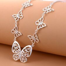 wholesale new female 925  silver jewelry butterfly fashion necklace