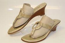 Bernardo MISMATCH Size 7 8 Womens NEW Leather T-Strap Wedge Sandals Shoes R4449