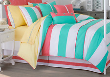 BRAND NEW SOUTHERN TIDE CABANA STRIPE 4 PIECE COMFORTER SET CALIFORNIA KING