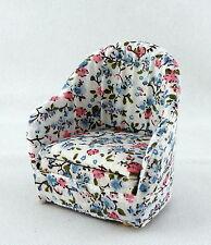 Melody Jane Dolls House Miniature salon mobilier confortable Chintz fauteuil