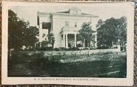 Vintage W P Freeman Residence McAlester Oklahoma Postcard Used Unposted