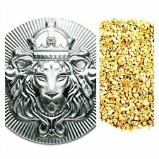 100 GRAM .999 SILVER SCOTTSDALE STACKER + 50 PIECE ALASKAN PURE GOLD NUGGETS