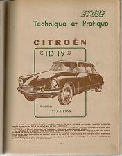 REVUE TECHNIQUE AUTOMOBILE 156 RTA 1959 CITROEN ID 19 ID19 MODELE 1957 1958 1959
