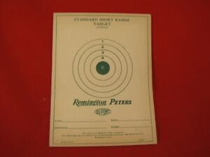 10 VINTAGE REMINGTON-PETERS TARGETS .22 RIFLE SHELL BOX