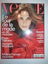 Magazine mode fashion VOGUE PARIS #800 septembre 1999 cover Molly Sims M. Farmer