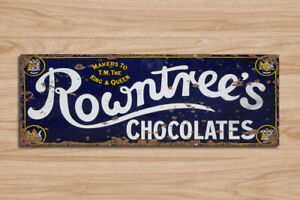 Metal Signs Rowntree's retro vintage grunge style home kitchen cafe wall plaque