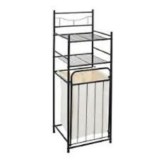 New Laundry Storage Unit Hamper and Shelves Organise Washing Towels Toiletries