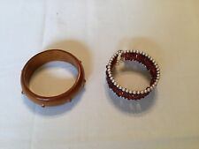 And Wood Bangle Bracelet Unbranded Amber Seed Beads Bracelet