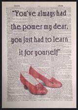 Mago Di Oz Always Ha Avuto Alimentazione Citazione Vintage Dizionario Libro