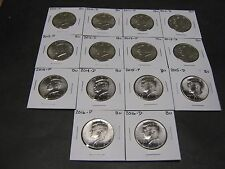 2010 2011 2012  2013 2014 2015 2016 2017 P & D KENNEDYS 16 Coins from Mint Rls