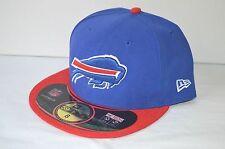 New $35 New Era 59Fifty NFL On Field Buffalo Bills Blue/Red Game Cap/Hat sz 8