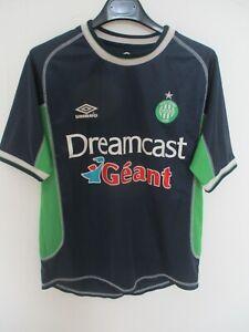 Maillot A.S SAINT-ETIENNE 2001 UMBRO away shirt les Verts jersey trikot 168 S XS