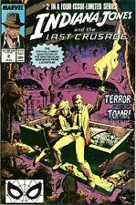 INDIANA JONES AND THE LAST CRUSADE #2 / MARVEL COMICS / 1989 / V/G / 1ST PRINT