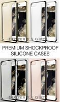 Luxury ShockProof Crystal Clear Soft Silicone Gel Bumper Slim iPhone Case Cover