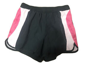 Adidas charcoal gray and pink shorts ladies size S Lightweight Inner Lined Panty