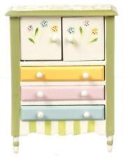 Dolls House Springtime Cupboard Dresser Miniature Hand Painted Bedroom Furniture