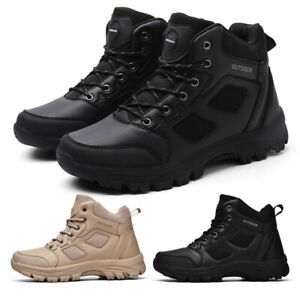 Mens Hiking Shoes Terkking Ankle Wide Fit Trail Trainers Sport Outdoor Flat UK