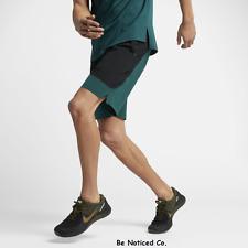 Nike Lab Essentials Men's Training Shorts XL Green Black Gym Casual Running New