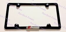 Audi S Line 3D Emblem 4 Hole Stainless Steel License Plate Frame Rust Free W/cap