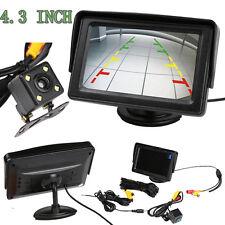 """4.3""""TFT LCD Car Rear View Backup Reverse Monitor Parking Night Vision Camera Kit"""