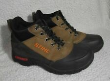 STIHL Mens Size 7 LawnGrips Steel Toe Shoes Sneakers Lace-up EUC