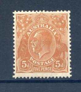 Australia 5d Orange Brown SG103a mounted Mint