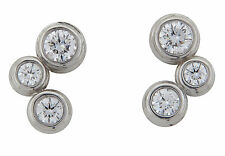 Tiffany & Co. Diamond Bubbles Earrings Platinum