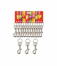 3  METAL HIPSTER  KEYRINGS STRONG GREAT QUALITY  BELT CLIP  KEY RING KEY CHAIN