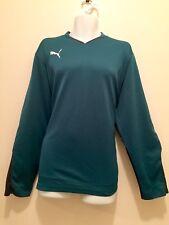 Mens Puma Sport Shirt Size XL Long Sleeve Workout Gym Active Wear Green, black
