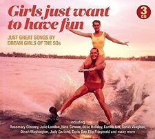 GIRLS JUST WANT TO HAVE FUN  EDITION - 60 HITS OF 50'S DREAM GIRLS 3 CD NEU