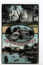 CANADA carte postale ancienne MONTREAL Pretty views in PARK LAFONTAINE