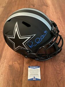 MICHAEL IRVIN Signed AUTO BLACK MATTE Full Size Helmet COWBOYS Beckett COA