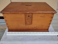 Antique Primitive Wood Voting Ballot Box Americana Country Hand Made Late 1800s