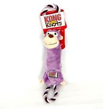 Kong Tugger Knots Medium / Large Squeak Tug Play Dog Puppy Toy monkey Animal M L