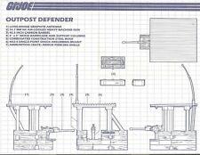1986 GI Joe OUTPOST DEFENDER station BLUEPRINTS #1 instruction sheet JTC