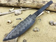 Blade # 6 made in Russia, forged Damascus steel, black blade