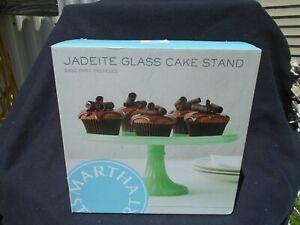 Martha Stewart Jadeite Glass Cake Stand