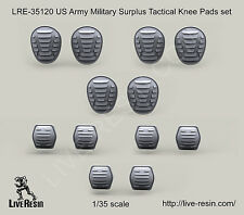 Live Resin 1/35 LRE-35120 US Army Military Surplus Tactical Knee & Elbow Pads