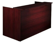 Cherryman Amber Office Reception Desk W/ Glass Transaction Top Waiting Room