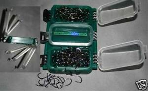 Green double-sided carp fishing tackle box FULLY LOADED