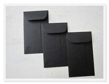 100 Black Envelopes, Bulk Mini Gift Enclosure, Coin Envelopes, Gift Card