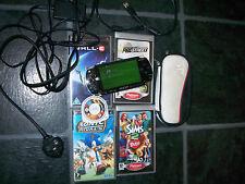 Console Sony PSP nera, 5 Giochi, Caricabatterie