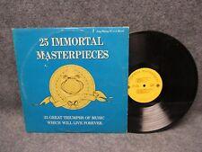 33 RPM LP Record 25 Immortal Masterpieces Pickwick Records Handel Brahms STBMN
