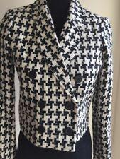 BCBG Generation Women Wool Black Beige Jacket Coat Lined Sz XS